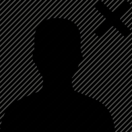 avatar, close, delete, user icon