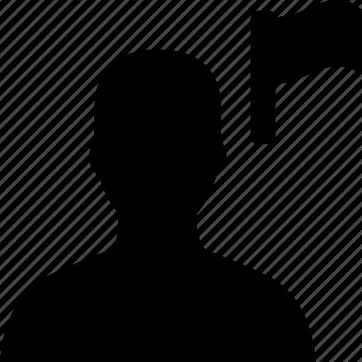 avatar, flag, user icon
