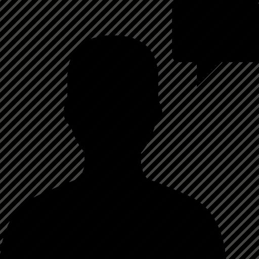 avatar, chat, message, speak, talk, user icon