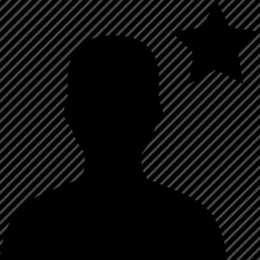 avatar, star, user icon
