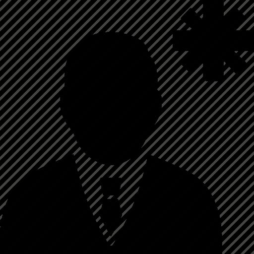 asterisk, avatar, user icon