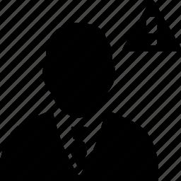 avatar, user, warning icon