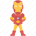 superhero, cartoon character, iron man