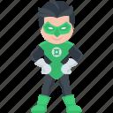 green lantern, hero, cartoon character, marvel comics, superhero