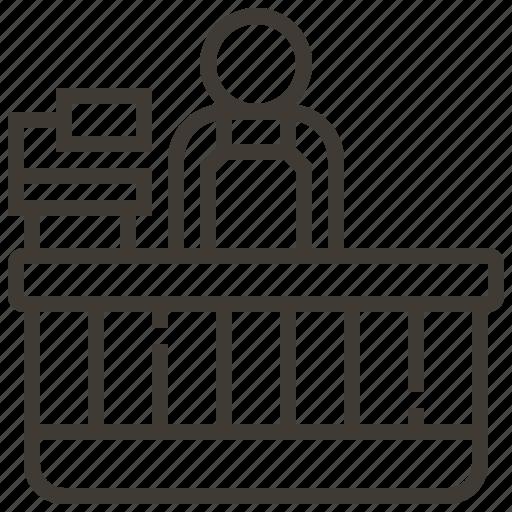 cashier, commerce, market, retail, sale, store, supermarket icon