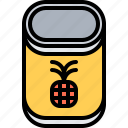 canned, cooking, food, pineapple, shop, supermarket, tin