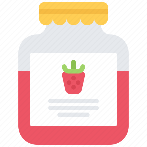cooking, food, jam, jar, shop, strawberry, supermarket icon