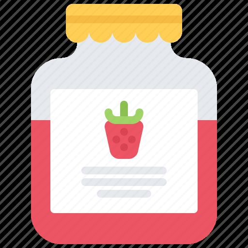 Cooking, food, jam, jar, shop, strawberry, supermarket icon - Download on Iconfinder
