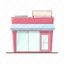 food, building, supermarket, products, shopping, store icon