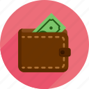 bills, market, money, shopping, wallet icon