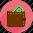 bills, market, money, shopping, wallet icon