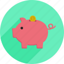 market, money, pig, piggy bank, savings, shopping, supermarket icon