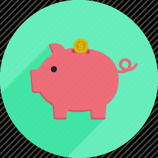 market, money, pig, piggy bank, savings, shopping, supermarket icon