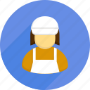 lady, sell, shopping, supermarket, user, vendor icon