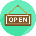 market, open, open sign, shopping, sign, supermarket icon