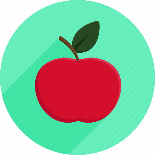 apple, fruit, groceries, market, shopping icon