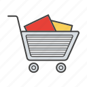 basket, buy, cart, purchase, shopping trolley, store, trolley icon