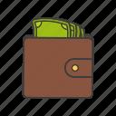 cash, money, pay, porte-monnaie, pouch, purse, wallet icon