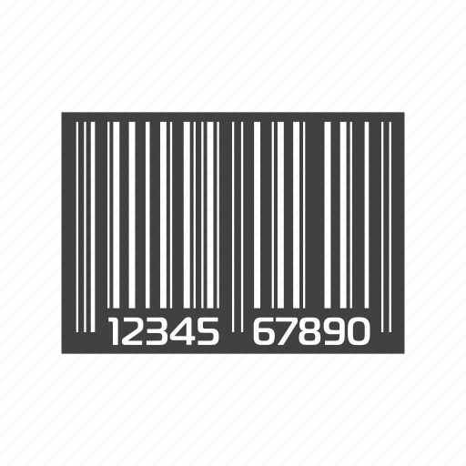 barcode, code, id, identity, label, number, product identification icon