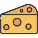 cheese, wedge, grocery, store, cheddar