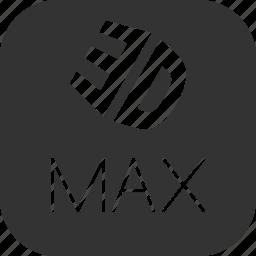 autodesk, graphic, max, model, modelling, render, studio icon