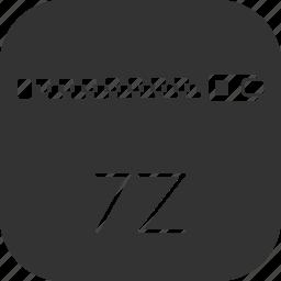 archive, compressed, document, file, winrar, winzip, zipper icon