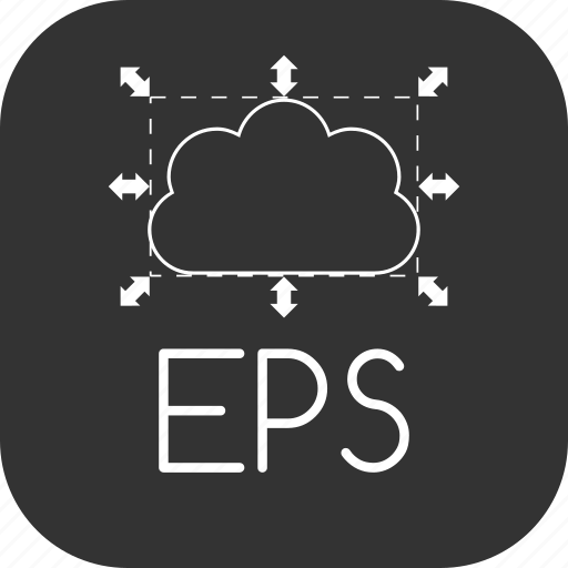 encapsulated, eps, file, graphic, postscript, scalable icon