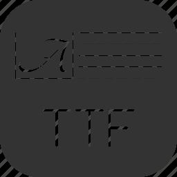 font, truetype, ttf icon