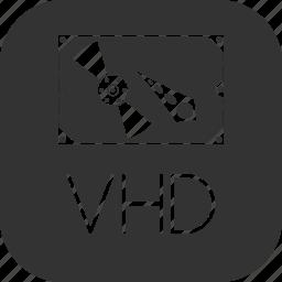 disk, hard, harddisk, hdd, machine, vhd, virtual icon