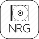 archive, blu, cd, dvd, media, nero, nrg, optic, optical, ray, recordable, rom icon