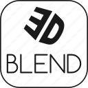blend, blender, graphic, model, modelling, render icon