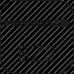 archive, bz2, bzip2, compressed, document, file, winrar, winzip, zipper icon