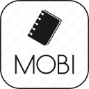 book, document, ebook, mobi, mobipocket icon