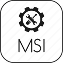 application, executable, file, msi, windows icon