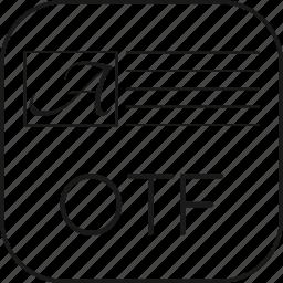 fontopentype, otf icon