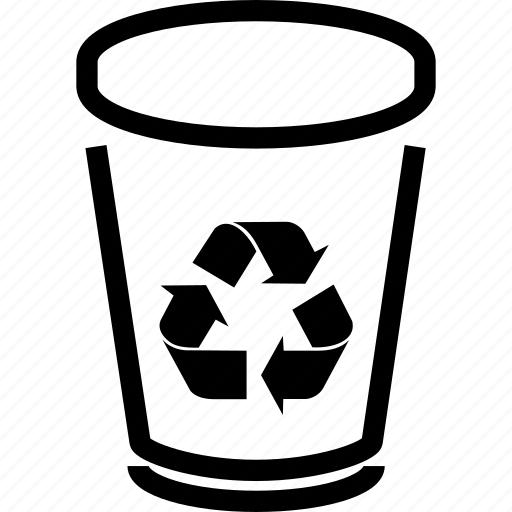 bin, can, delete, dump, ecology, garbage, recycle, recycle bin, remove, trash, trashcan icon