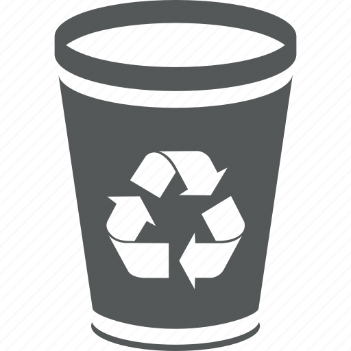 bin, can, delete, dump, garbage, recycle, recycle bin, remove, trash can, trashcan icon