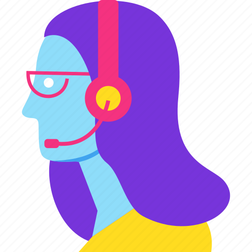 assistance, avatar, consultant, headphones, help, support icon