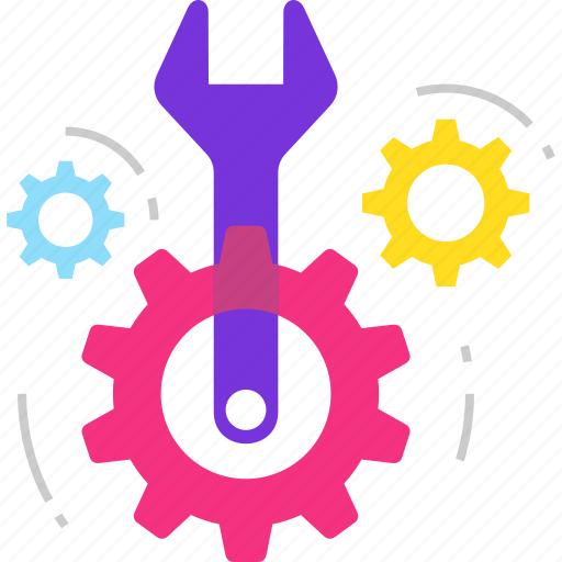 gear, service, settings, support, technical support, tools icon