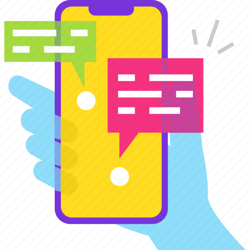 chat, chating, hand, help, mobile, support icon