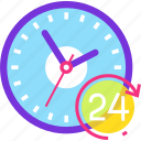clock, help, hour, service, support, time icon
