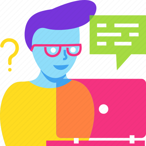 avatar, chat, consultant, question, service, user icon