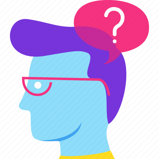 avatar, consultant, help, question, support, think icon