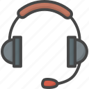 filled, headphone, outline, service, support
