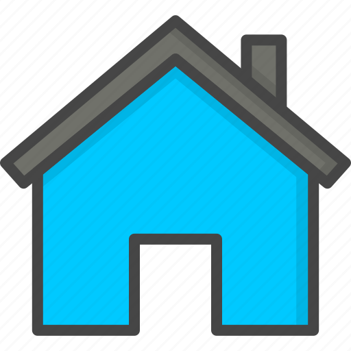 filled, home, hotel, house, service, sign, support icon