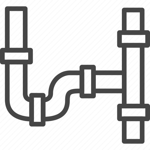 line, outline, pipe, plumb, renovation, service icon