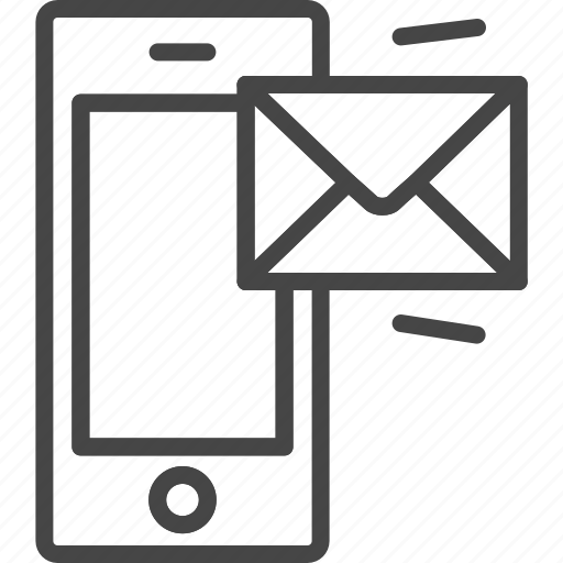 line, mail, message, outline, phone, service, support icon