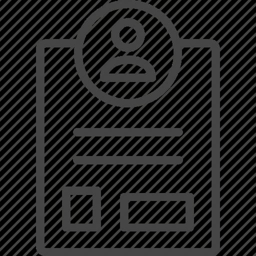 Badge, line, outline, profile, service, support icon - Download on Iconfinder