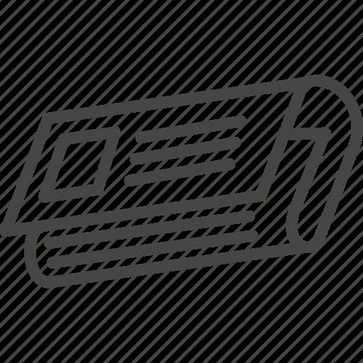 Line, newspaper, outline, service, support icon - Download on Iconfinder
