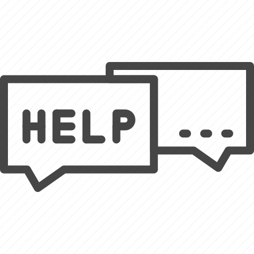 conversation, help, line, outline, service, support icon